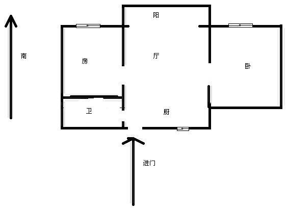 一小学区,经典飞机户型,厅大可放沙发,前面无遮挡采光