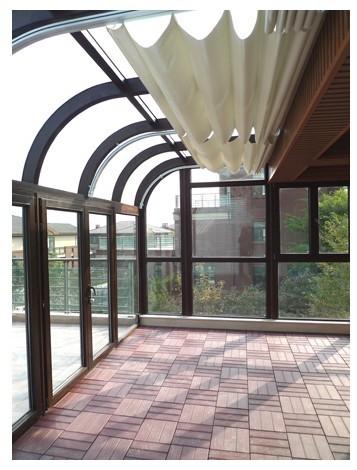 芬亚阳光房/南京封闭阳台窗/碳钢弯弧阳光房