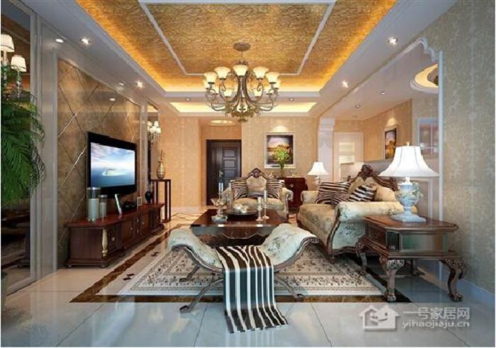 芜湖市新里城三室两厅欧式古典风格装修效果图