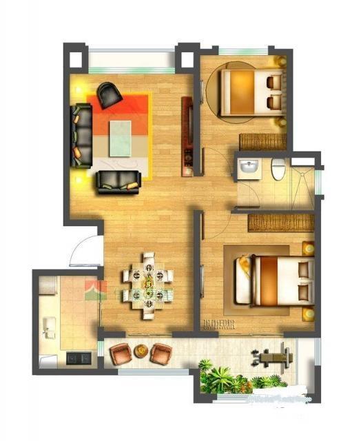 中海国际社区全新两房,未住过人,南北通透,楼层好,看房方便
