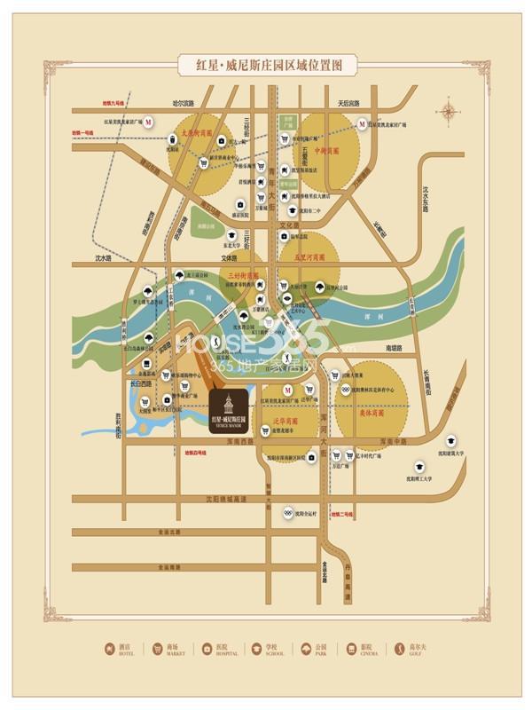 彼得堡庄园手绘平面图