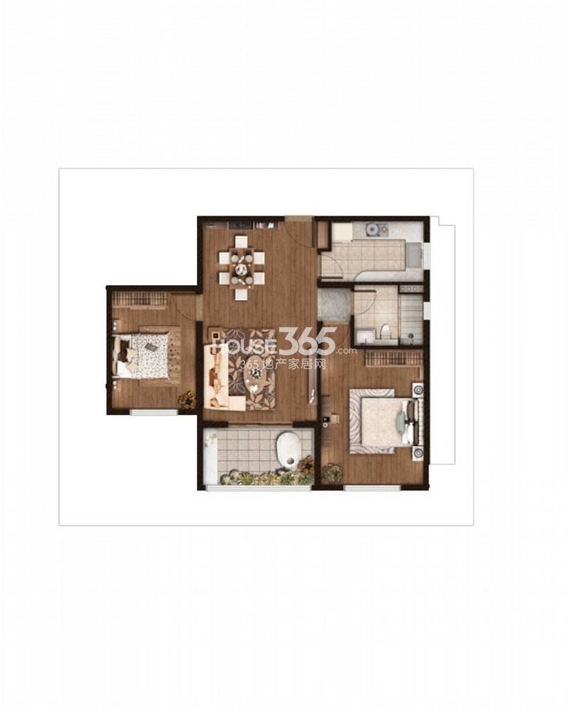 仁恒绿洲新岛1、2、3号楼标准层A户型 94平方米
