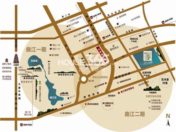 曲江林语交通图
