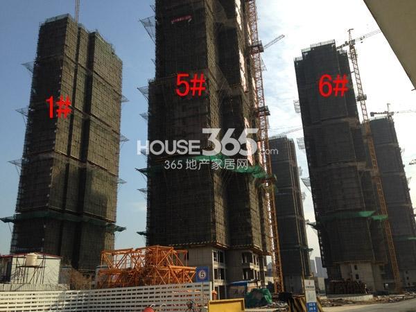 宝龙城市广场1#、5#、6#楼工程进度图(2015.2)