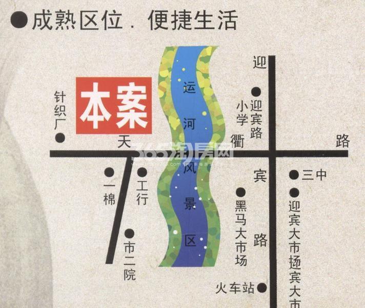 运河鑫城交通图