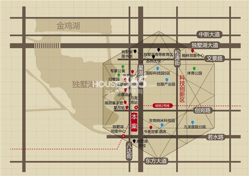 月亮湾3号美颂交通图