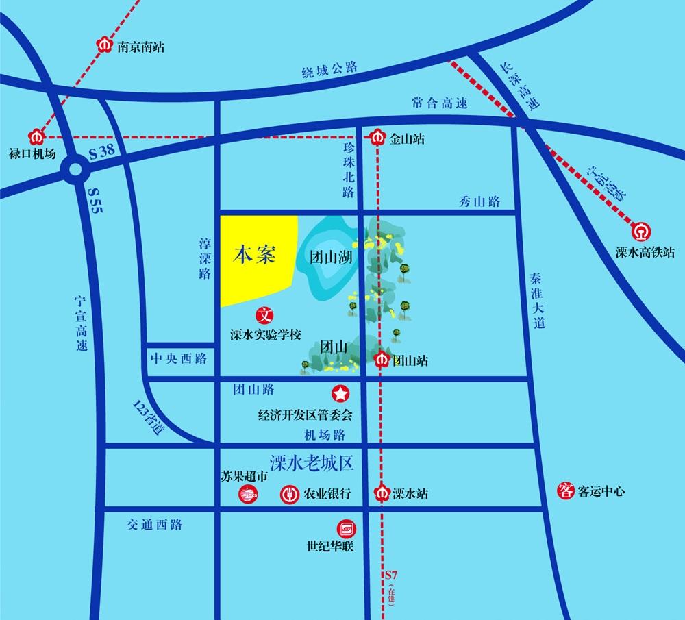 喜之郎丽湖湾交通图