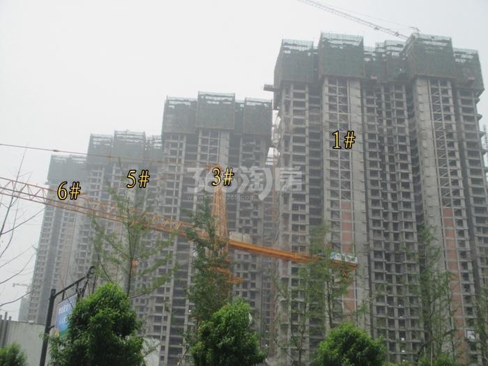 理想银泰城项目1、3、5、6号楼施工进程图(2015.6)