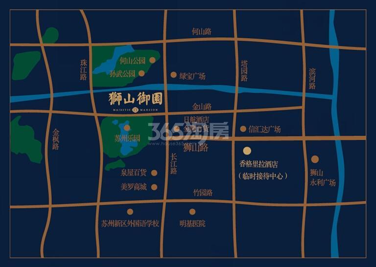 狮山御园交通图