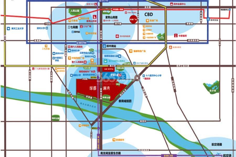 绿都澜湾交通图