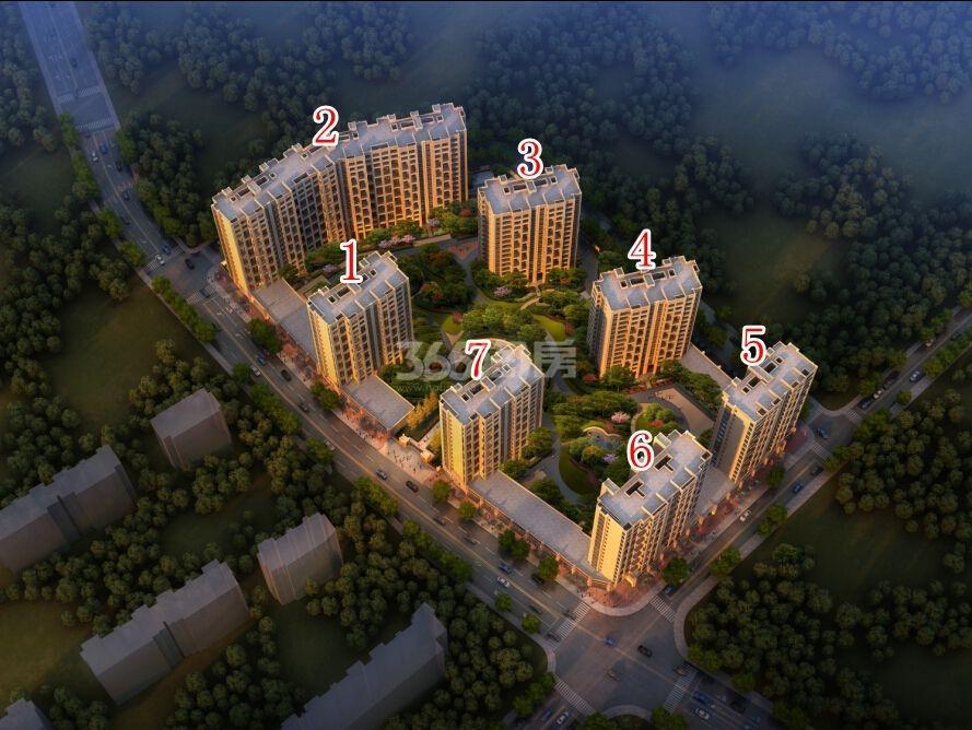 天阳尚城国际鸟瞰图
