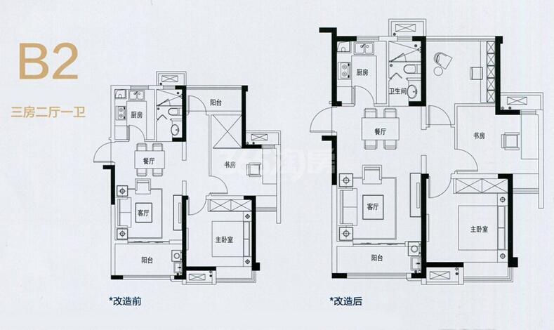 中南锦苑B2户型图