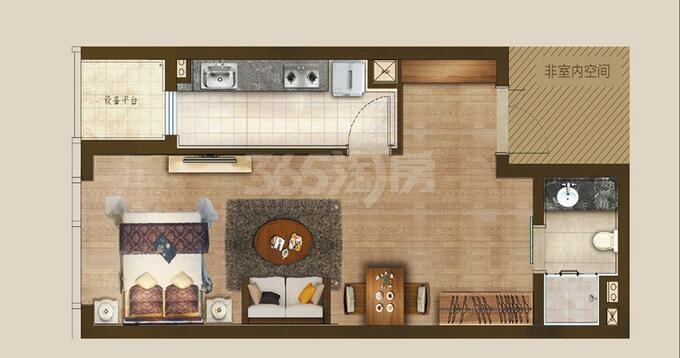 丰隆城市中心T1-70年产权公寓A1-3户型