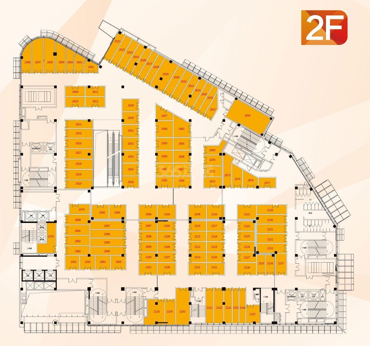 利华广场二楼商铺户型分布图
