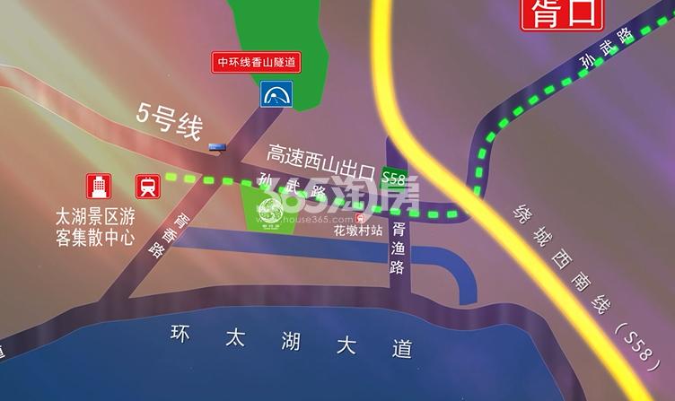 太湖御玲珑交通图