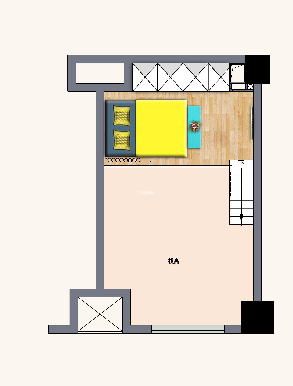 中南世纪雅苑挑高公寓户型图