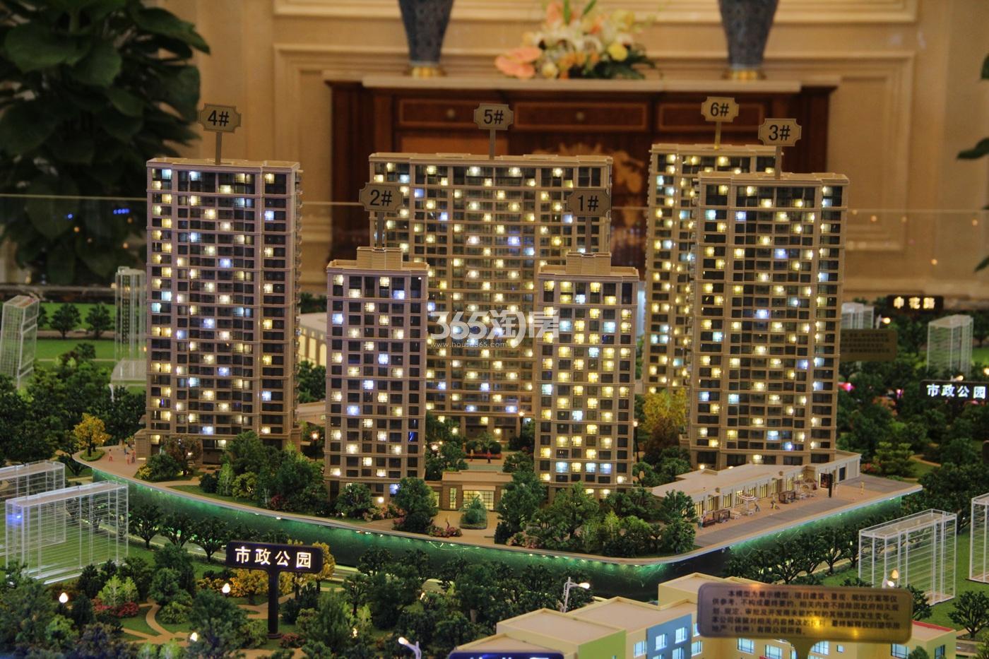 九龙仓珑玺项目125方(b3户型)样板房---客餐厅_杭州