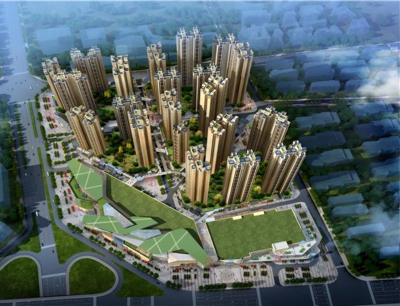 滨江和城鸟瞰图