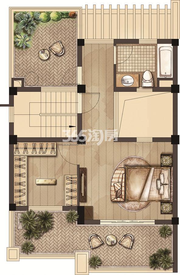 武夷绿洲沁荷苑H3三层平面图