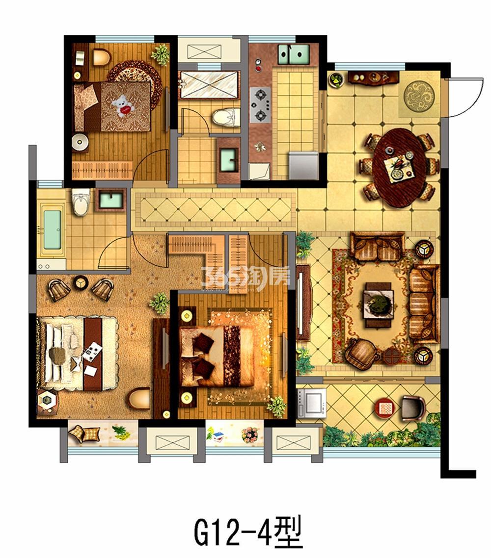 金科财富商业广场125.65平户型(售空)