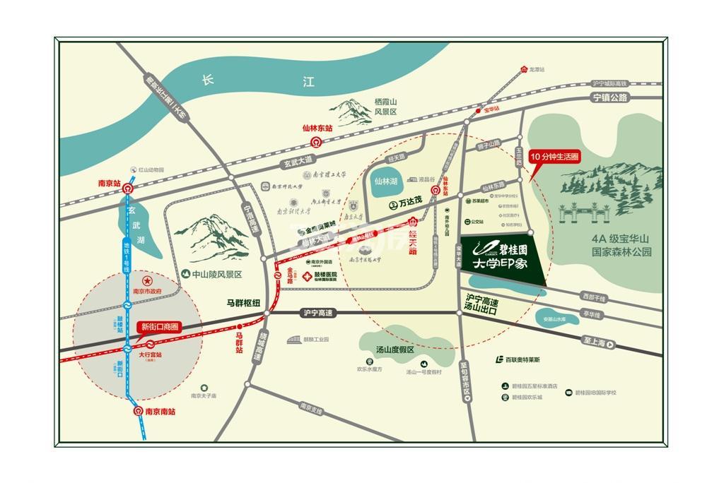 碧桂园大学印象交通图