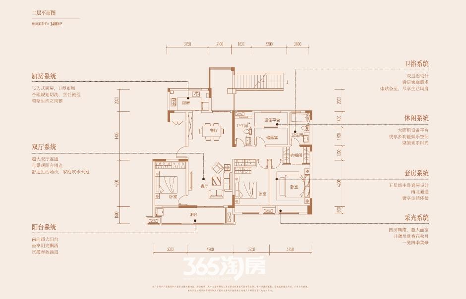 陶冲湖壹号院洋房2层平面图