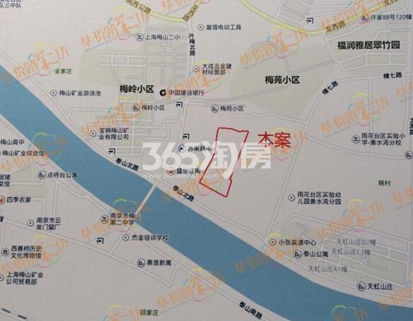 禹洲映月溪山交通图