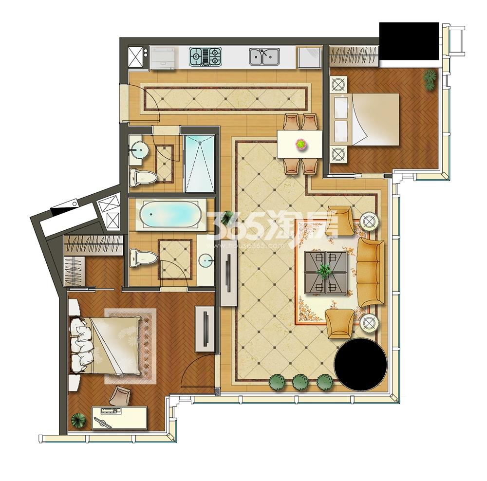 苏宁广场酒店式公寓B4户型