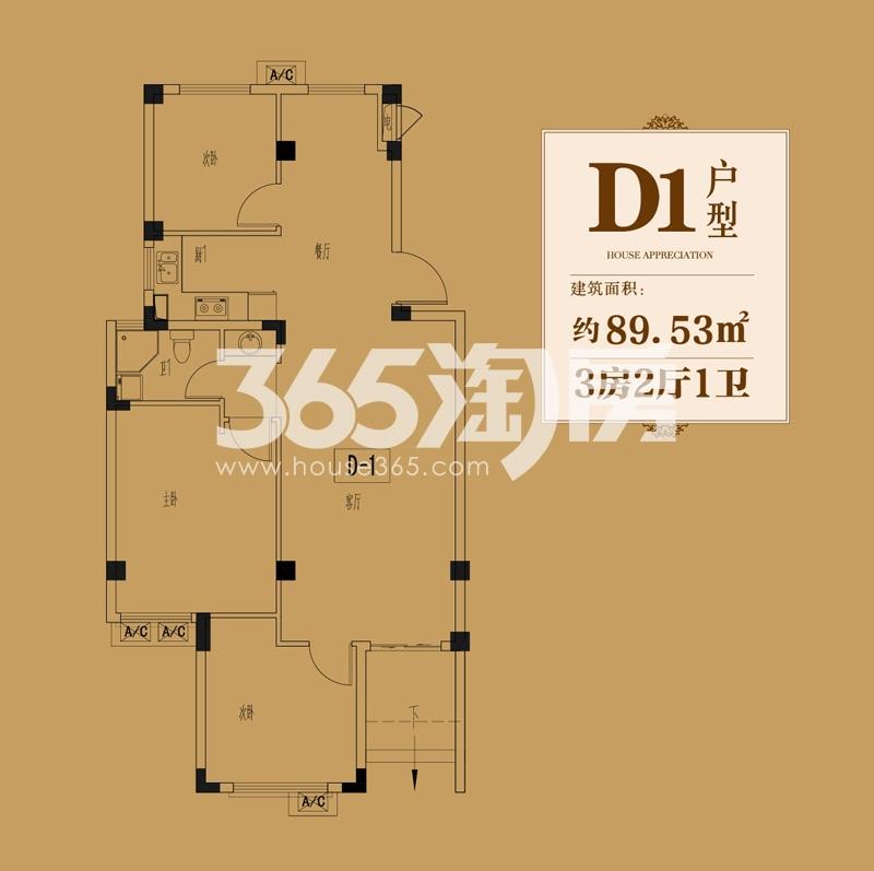 金洋·奥澜D1户型