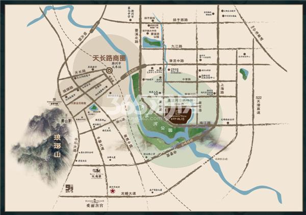 金鹏玲珑湾交通图