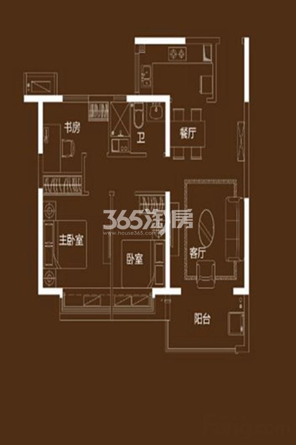 96㎡三室两厅一卫