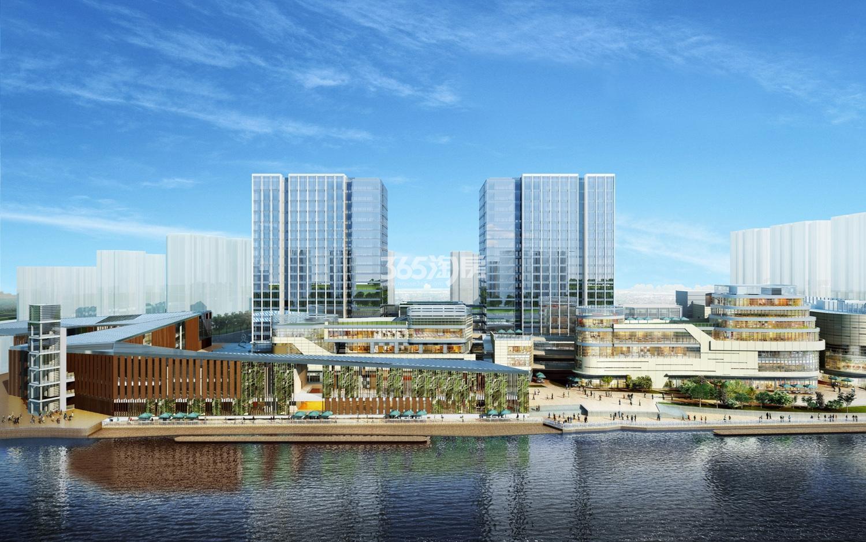 绿城运河郡项目水景效果图
