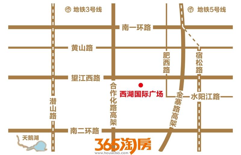 西湖国际广场交通图