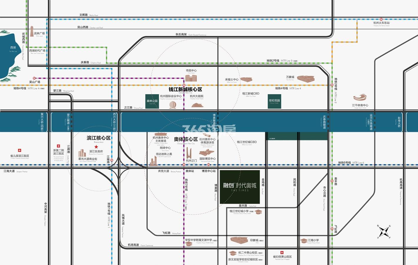 融创时代奥城交通图