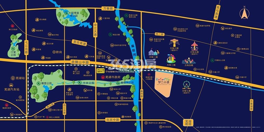 金晖罗兰小镇交通图