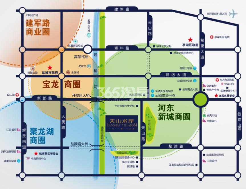 悦达·天山水岸交通图