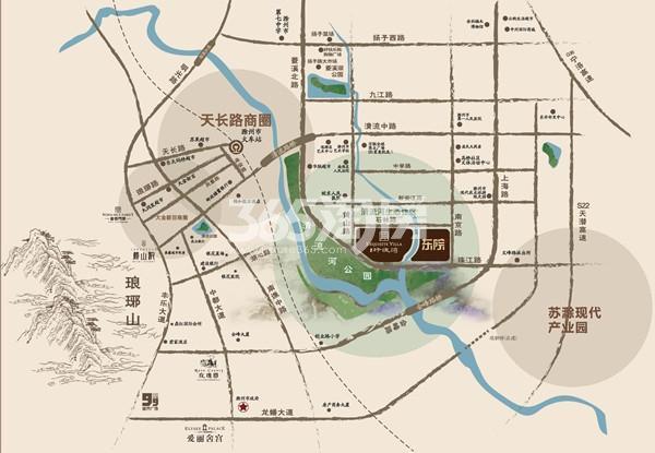 金鹏玲珑湾东院交通图