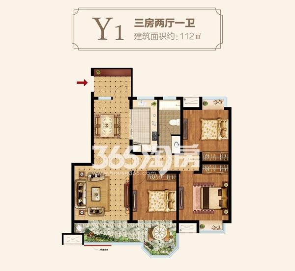 Y1户型三房两厅一卫