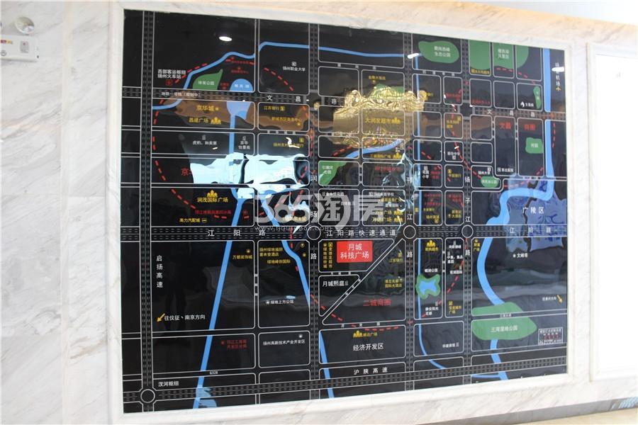 月城科技广场交通图