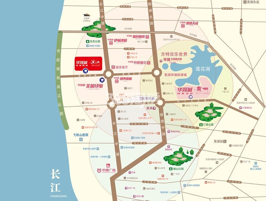 华强城颐景湾畔藏湖交通图