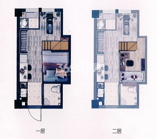 53平米IT高管公寓户型