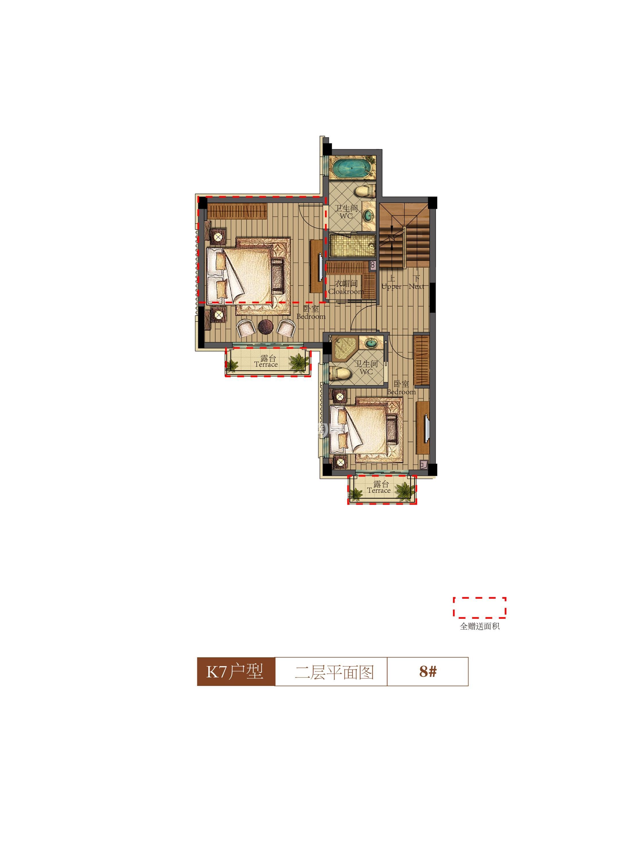 祥生群贤府8号楼K7户型二层 142.94㎡