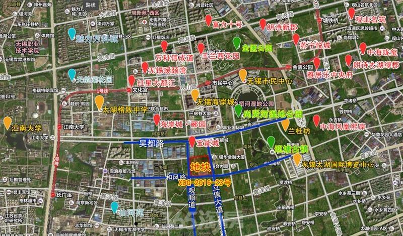 绿城和风路地块区位图