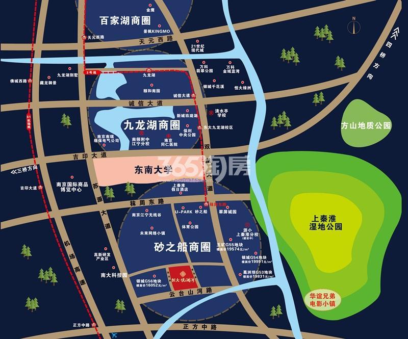 恒大悦澜湾交通图