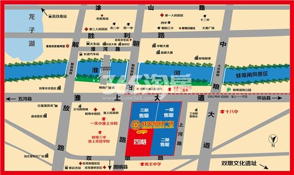 蚌埠国购广场交通图