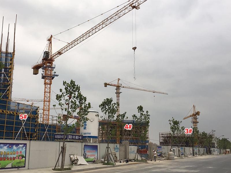 中国铁建西湖国际城3-5号楼施工实景(2017.8)