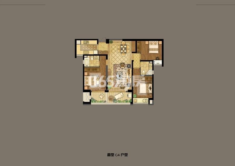 深业滨江半岛2号楼B1户型132.60㎡