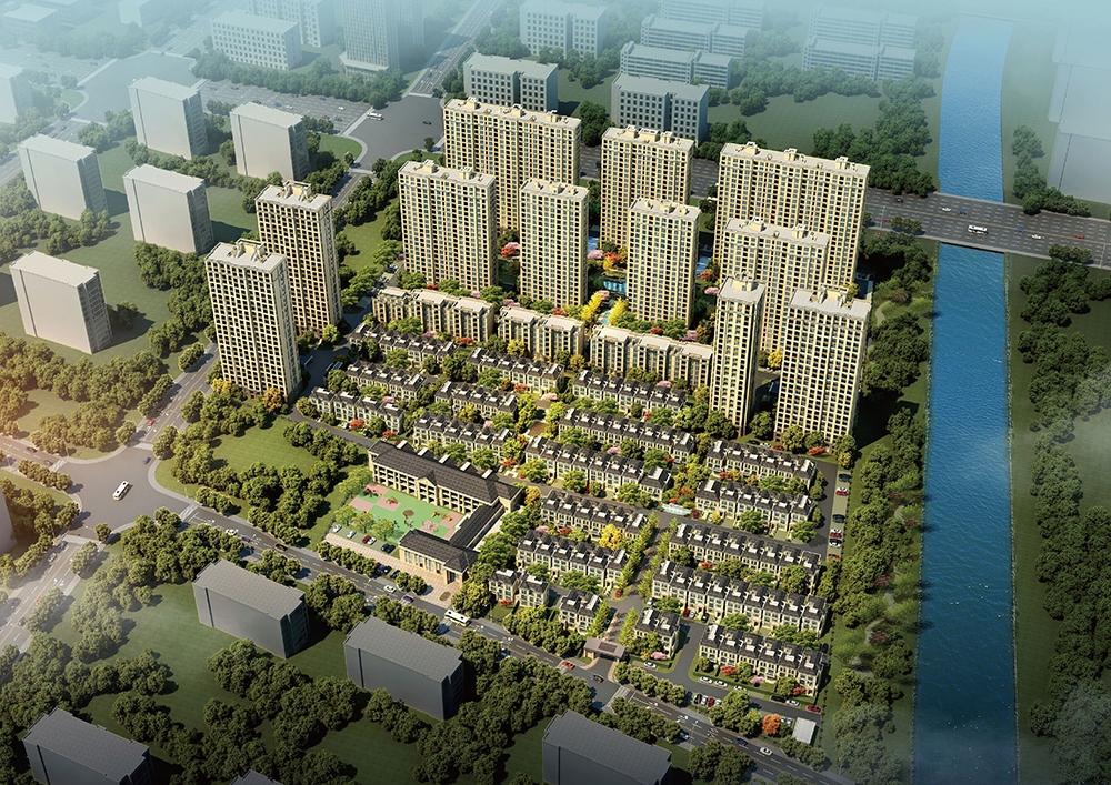 景瑞阳光城法兰公园鸟瞰图