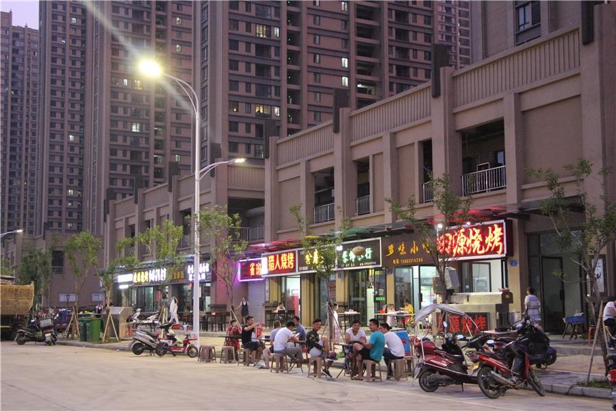 蚌埠国购广场 小吃街夜景 201804