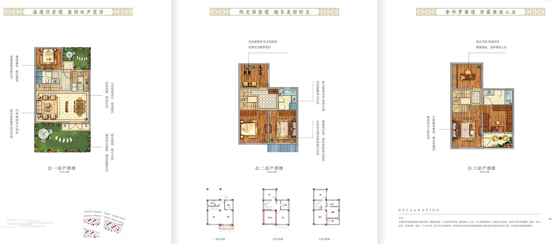中洲花溪樾合院别墅168平户型图